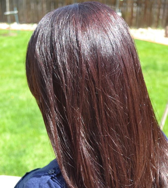 Jessica Puga's hair after using Madison Reed Hair Color Palermo Black