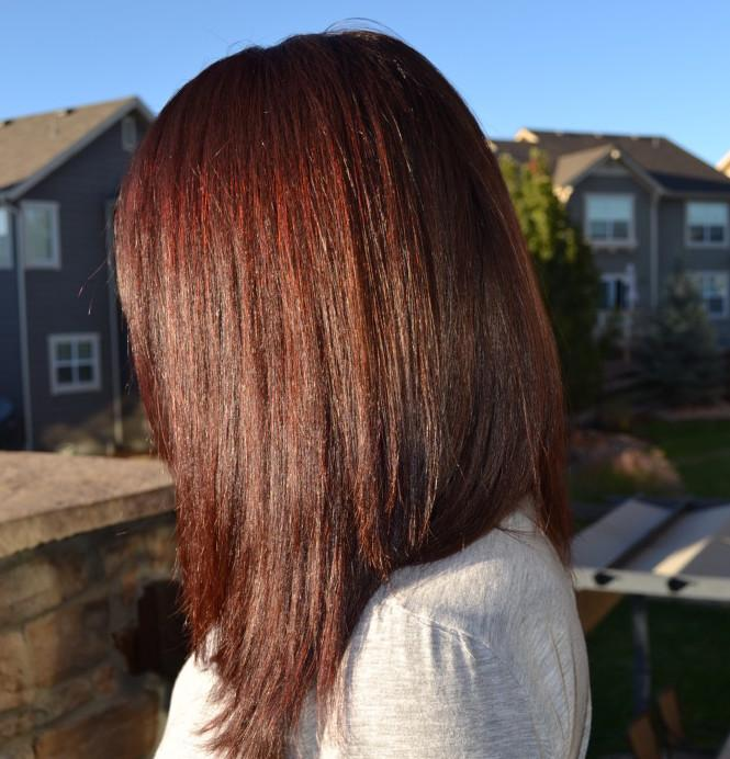 Jessica Puga's hair after using Madison Reed Hair Color Trieste Red