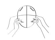 Divide your hair into quadrants