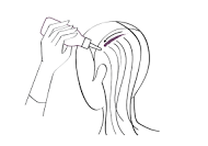 coloring highlights with comb through the hair