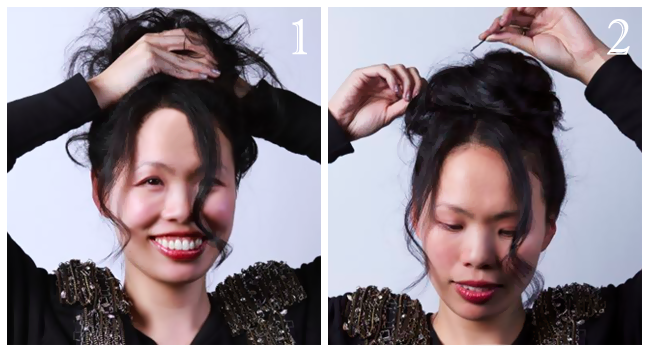 Holiday Hair Tutorial: Bejeweled Top Bun