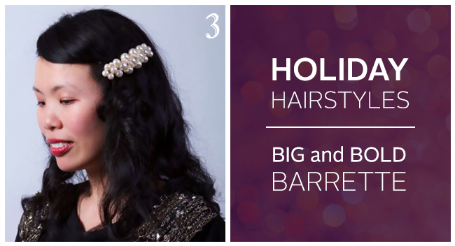 Holiday Hair Tutorial: Big Barrette