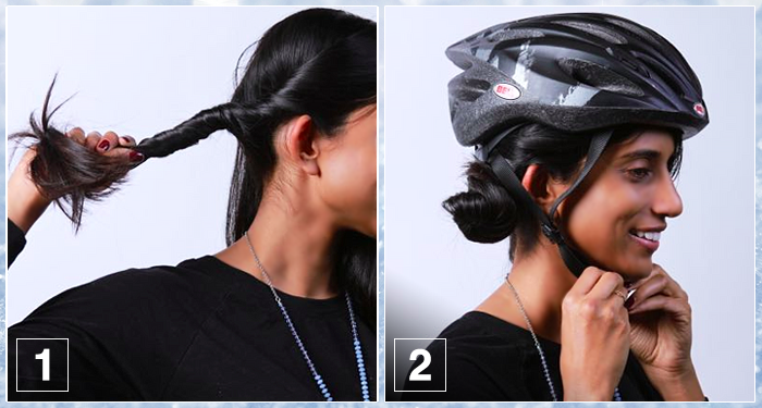 How to Style Your Hair Wearing a Helmet