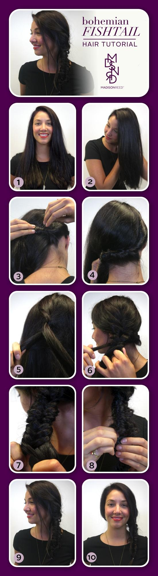 Bohemian Fishtail Tutorial Layout