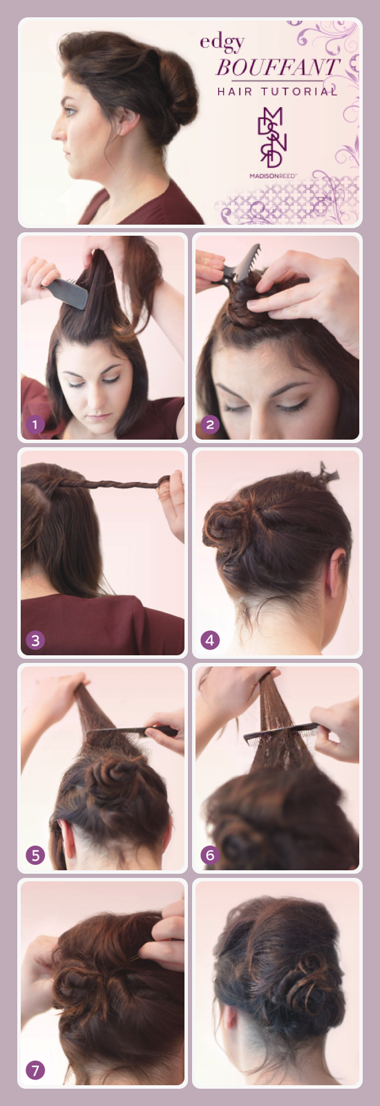 bouffant hair tutorial steps