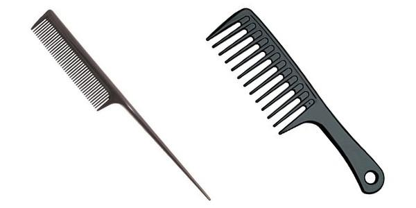 Teasing Combs and Wide-Tooth Combs