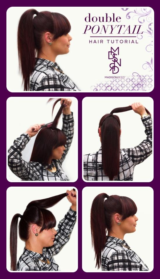 Double Ponytail Hair Tutorial