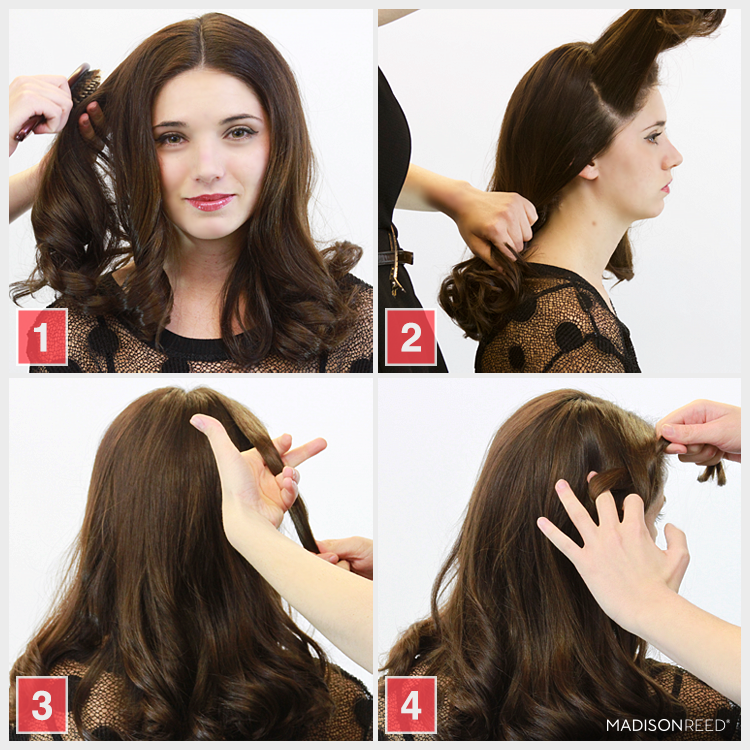 How To Make A Loop De Loop Updo Hairstyle Madison Reed