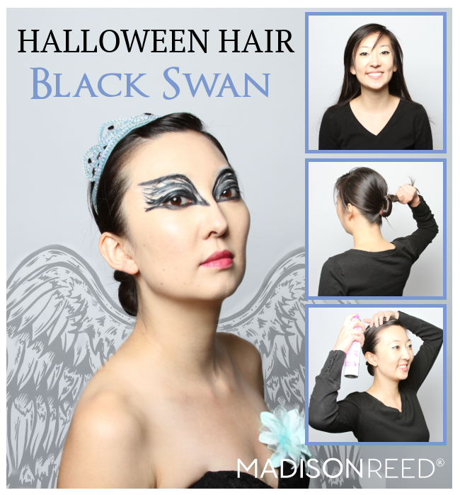 halloween hair black swan hair