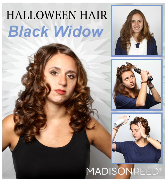 Halloween Hair Black Widow