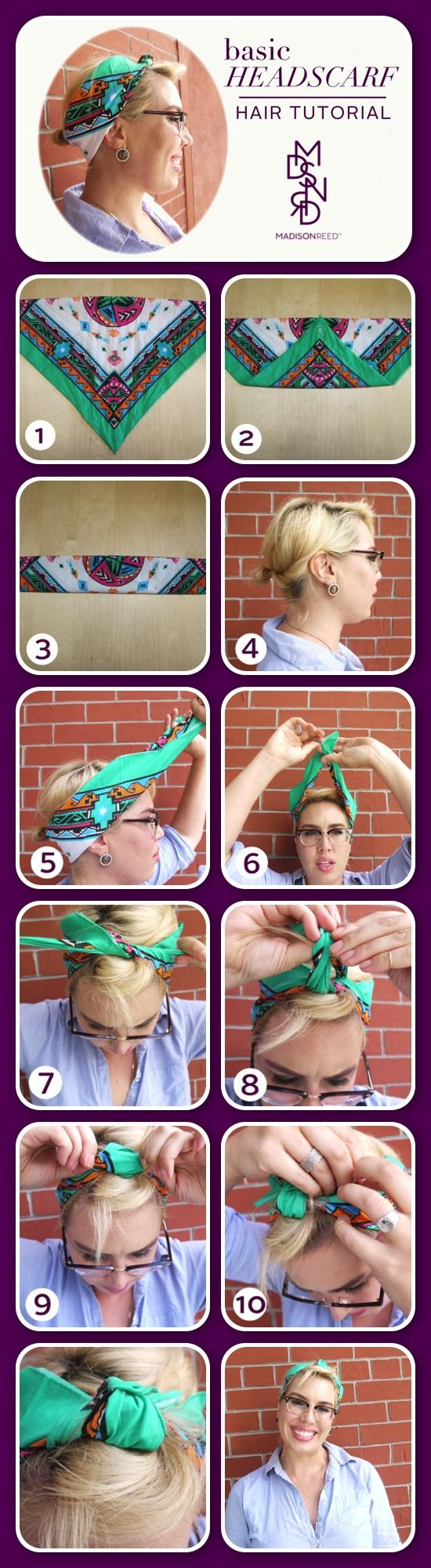 Headscarf Tutorial Layout