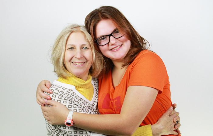 Marcia and Alina hug