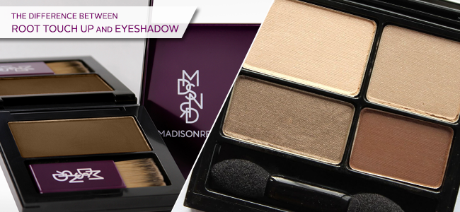 Best Root Touch Up Products - Madison Reed Root Touch Up vs. Eyeshadow