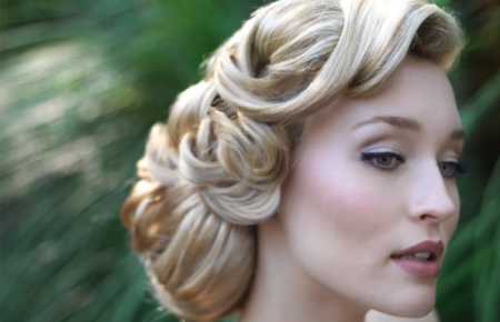 romantic twist hair style