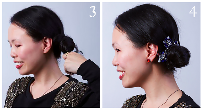 Elegant Side Bun Hair Tutorial