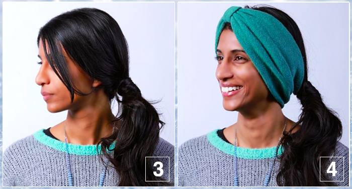 Turban Side Ponytail Hair Tutorial