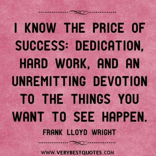 price-of-success-quotes