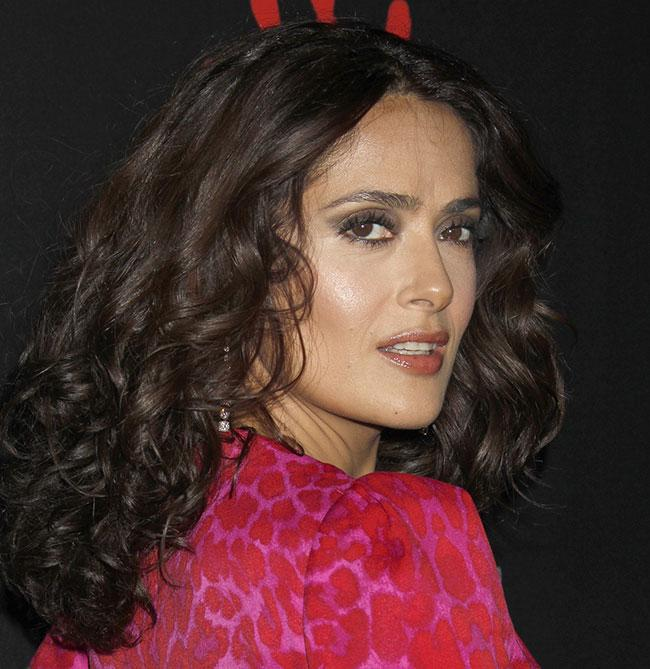 Types of Curly Hair - salma hayek