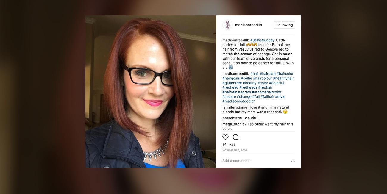 madison reed instagram selfies