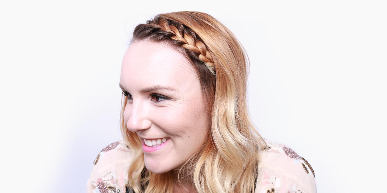 hair bangs - french braid