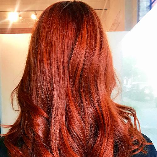 crimson hair color