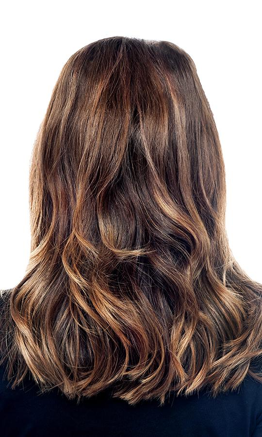 balayage highlights on brown hair
