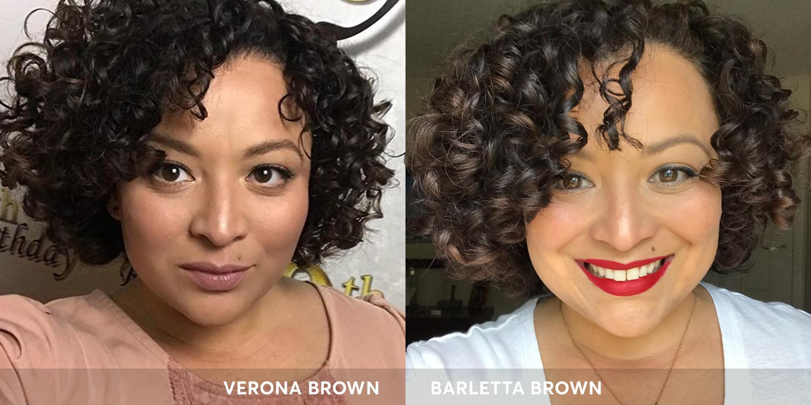 Verona Brown hair color and Barletta Brown Hair Color from Madison Reed