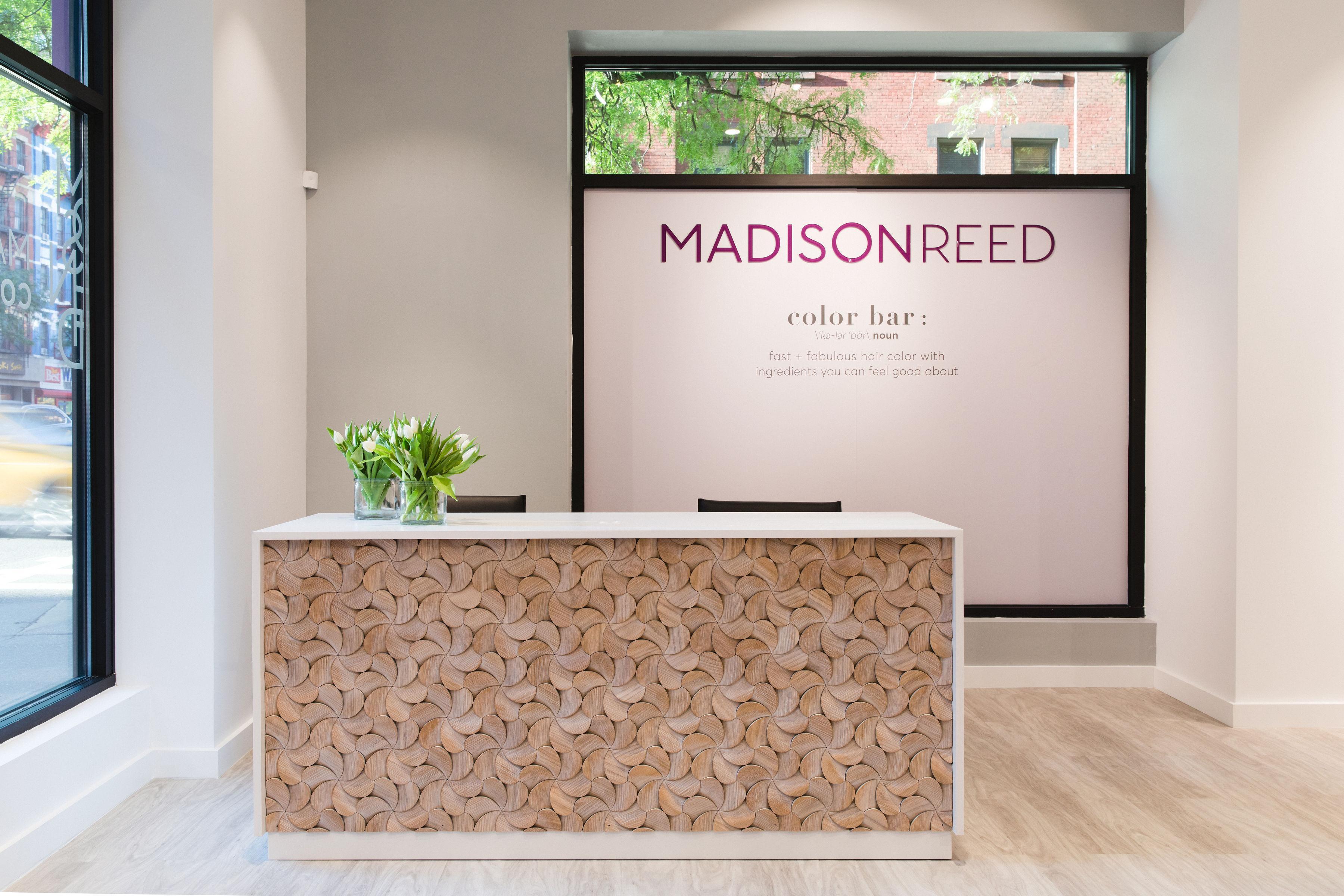 madison reed ave rug reception desk
