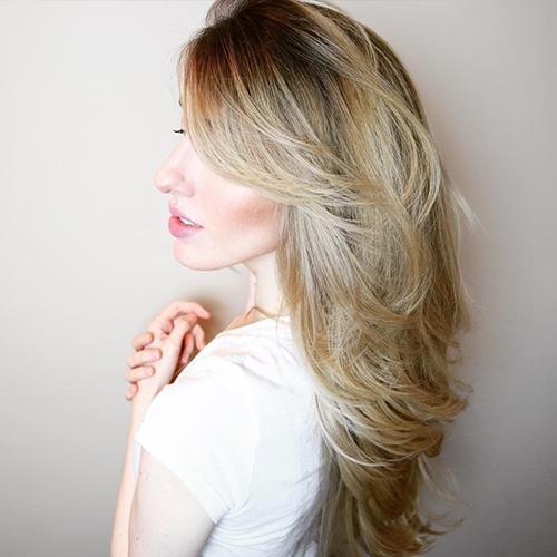 Blonde Woman's Hair
