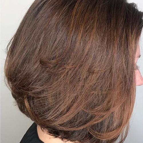 Short hair example of Sondrio Brown Hair color shade
