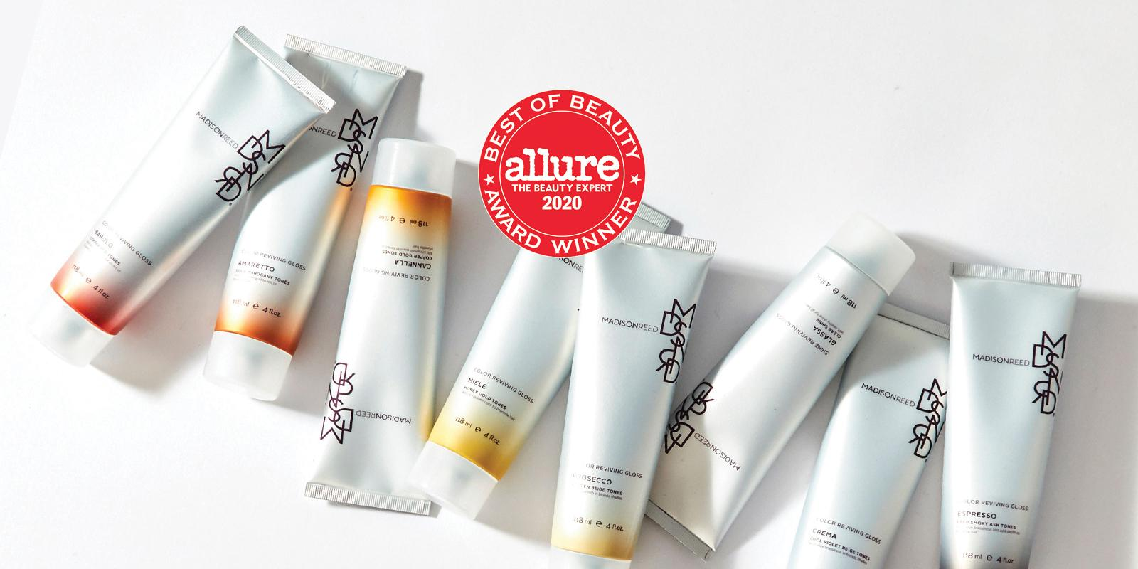 Madison Reed Hair Gloss with award winning symbol from Allure