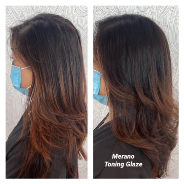 toning glaze before and after